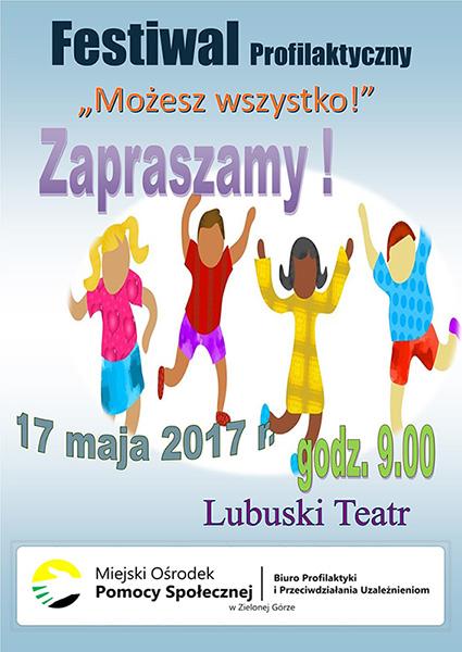 """Ilustracja do informacji: Festiwal Profilaktyczny """"Możesz Wszystko!"""""""