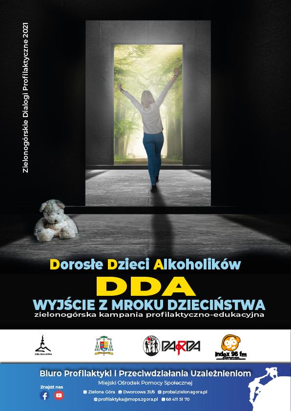 """Ilustracja do informacji: """"DDA - wyjście z mroku dzieciństwa"""" 2021 r."""